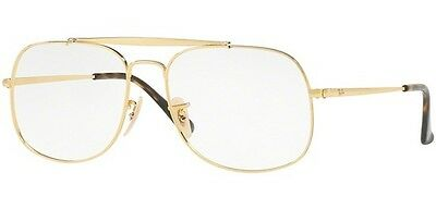 8646dc6620828 RAY BAN 6434 55 2500 Gold Lunette Vue Eyewear Gafas Or Lunettes ...