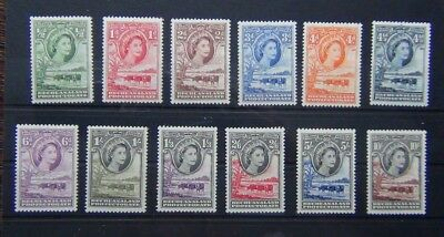 Bechuanaland 1955 - 58 set complete to 10s MM SG143 - 153