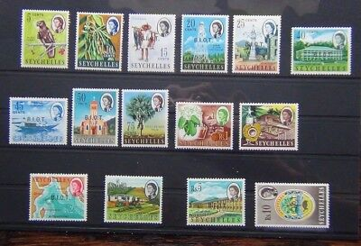 British Indian Ocean Territory 1968 set complete to R10 MM SG1 - SG15