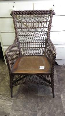 Beautiful Antique Windsor Nova Scotia Wicker Chair Top Vintage Craftsmen