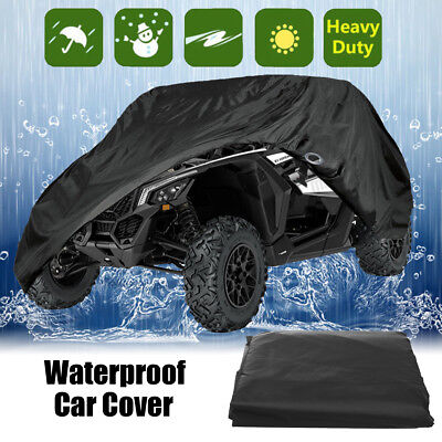 Black Waterproof Sun Protection Car Cover For Polaris RZR S 570 EPS 900 1000 EPS