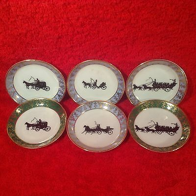 Set of 6 Antique Limoges, France Butter Pats c1894-1900, L228  GIFT QUALITY!!