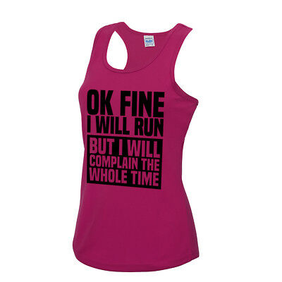 Sloth Running Team We/'ll Get There Ladies Vest//Tank Top Humour  Summer Funny