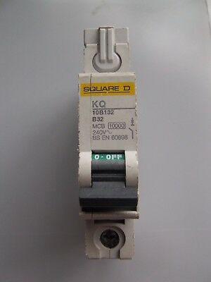New Square D, 32 Amp. Type B32, Single Pole, Mcb, Circuit Breaker. Kq10B132