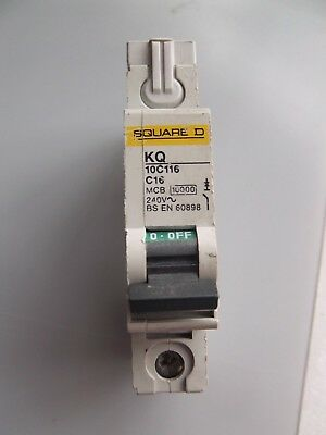 New Square D, Kq 32 Amp. Type B06, Single Pole, Mcb, Circuit Breaker. Kq10B106