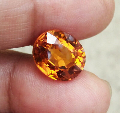 6.25ct. 11x9.5 mm. LAB CORUNDUM YELLOW SAPPHIRE  OVAL CUT TOP QUALITY AAA+++