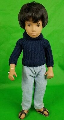 Vintage Sasha Doll Gregor Black Hair Sweater Jeans Coffee Complex Box Silver Tag