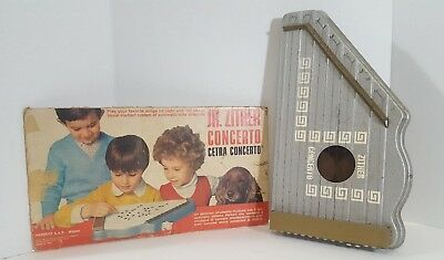 VINTAGE Jr Zither La Cetra Concerta FROM ITALY pre-owned #a