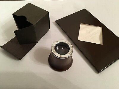 Patek Philippe Glass Loupe Magnifier + Cleaning Cloth - Original & Brand New