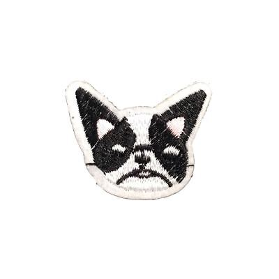 French Bulldog (Iron On) Embroidery Applique Patch Sew Iron Badge