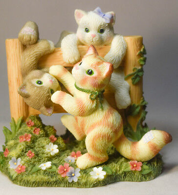 Calico Kittens: Just Hangin' Around - 720879 - 3 Cats on Fence - Limited Edition