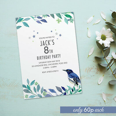 1st 2nd 3rd birthday party invitations for girls boys cards invites x10 BDF_13