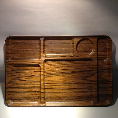 Vintage CALEPPIO tray ITALY design SPACE AGE plastic wood effect 60s 70s retro