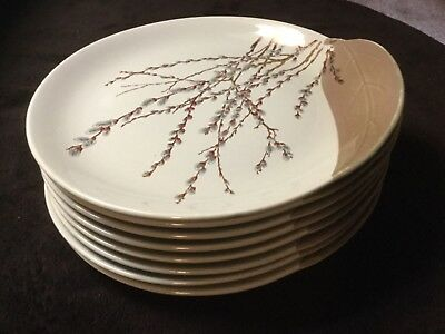 Willard George Pussy Willow Canonsburg Collectible Plates 8 Plates 10 1/2""