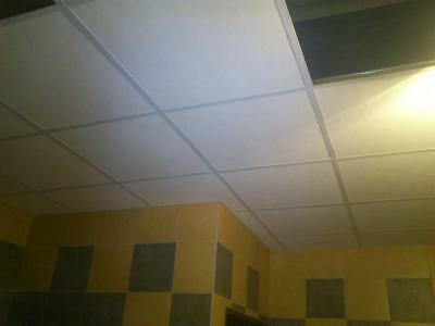 Suspended Ceiling Tiles 8x White 595x595mm Square Edge 600x600 next day delivery