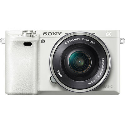 Sony Alpha a6000 Interchangeable Lens Camera in White w/ 16-50mm