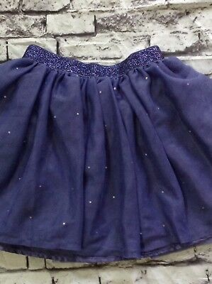 THE CHILDRENS PLACE Purple Tulle Rhinestones Skirt Girl's Size 4T Glitter Waist