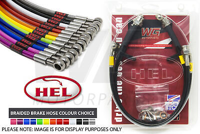 Alfa Romeo 166 2.0 Twin Spark (1999-2006) HEL Stainless Braided Brake Line Kit