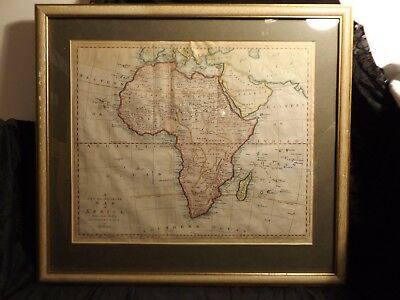 """Vintage """"New and Accurate Map of Africa"""" by Thomas Bowen - Framed"""