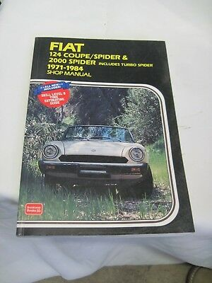 Fiat 124 Coupe /Spider & 2000 Spider Shop Manual 1971-1984