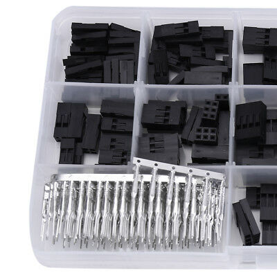 610pcs Dupont Wire Jumper Pin Header Connector Housing Kit + M/F Crimp Pins