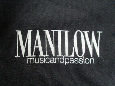 """BARRY MANILOW """"Music and Passion"""" Crew Concert Tour (XL) T-Shirt"""