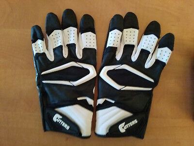 gants football americain CUTTERS REV PRO 2.0 noirs/blancs taille XL comme neufs