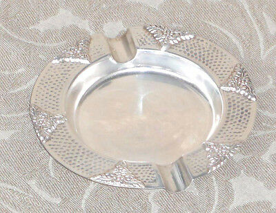 Antique American M.w.&co Sterling Silver Hammered Cigar Ash Tray Art Deco
