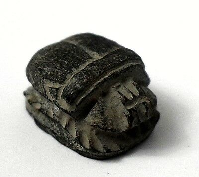 Rare Ancient Egyptian Antique stone scarab  (1069–332 BC)