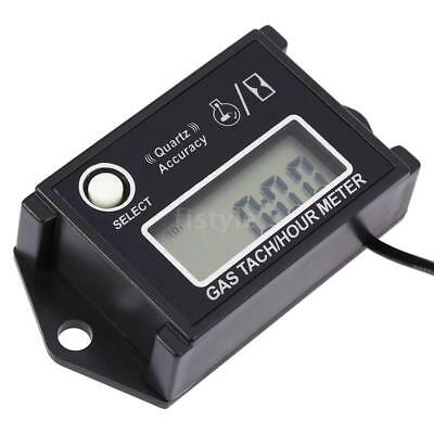 Waterproof Digital Tachometer Tach Hour Meter Gauge for Engine Motorcycles D3A7
