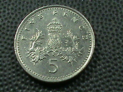 GREAT BRITAIN   5 Pence   1992   ,   $ 2.99  maximum  shipping  in  USA