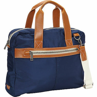 c7df65ba2c  230 J. Fold Mens BLUE NYLON Montreal TRAVEL GYM WORK Top Handle Briefcase  BAG