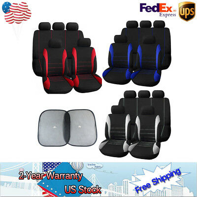 11x Auto Seat Covers Set For Car Sedan Truck Van Universal 3 Colors