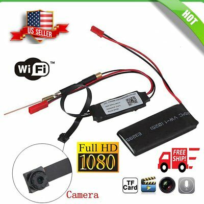 Micro HD Wireless WIFI Spy Hidden Camera DIY DV DVR Nanny HD 1080P Pinhole Cam