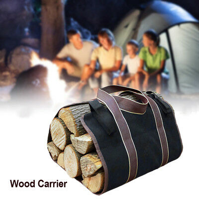 Firewood Log Carrier Canvas Wood Tote Water Resistant Carrier Bag NEW AU