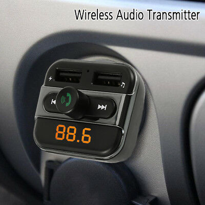 Bluetooth Wireless Car FM Transmitter Radio For MP3 Audio Player USB Charger