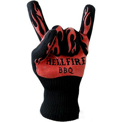 AL_ Heat Resistant Silicone Barbecue BBQ Grilling Oven Kitchen Cooking Gloves He