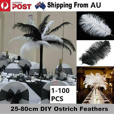10/20x Ostrich Feather 30-35cm DIY Crafts Event Feathers Beautiful Wedding Party