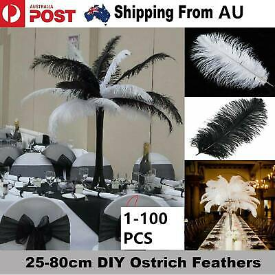 Fashion 10X Ostrich Feather 30-35cm DIY Crafts Event Feathers Wedding Party