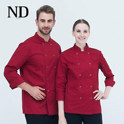 Autumn Kitchen Chef Uniforms 6 Colour Hotel Cook Clothes
