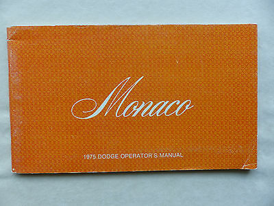 Dodge USA 1975 Monaco - US-Betriebsanleitung / operation manual 1975