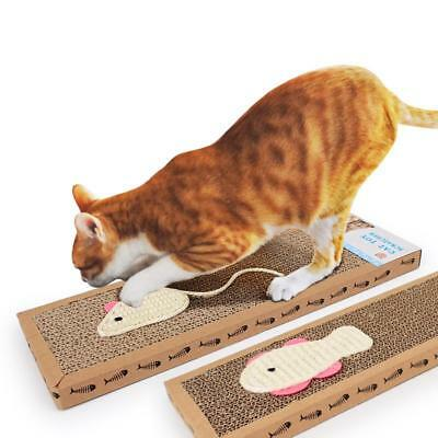Cat Scratch Board Corrugated Mat Cat Scratcher Cat Interactive Kitten Toys Tool