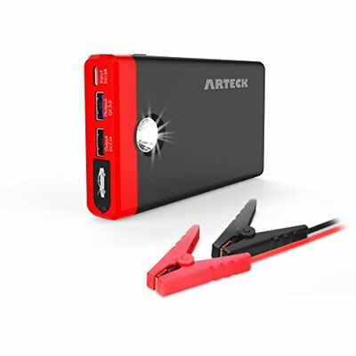 Arteck Car Jump Starter Auto Battery Charger and 12000mAh Quick Charge 3.0 & Car