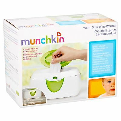 Munchkin Warm Glow Wipe Warmer Baby New Diaper Infant Flip top lid Night light