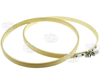 3Pcs 4,6,& 8 inch Round Bamboo Hoops/Rings For Embroidery Cross Stitch Sewing MM