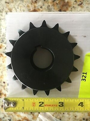 Tsubaki Fixed Bore Roller Chain Sprocket. Mfr. Model # 50B17F-1