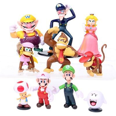 New 18 Pcs Super Mario mini Figure Cute Toys doll Action figures Collection Gift