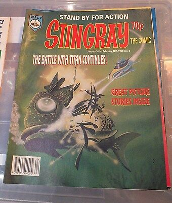 Stingray The Comic No 9 January 30th - February 12th 1993 GERRY ANDERSON - EXC.
