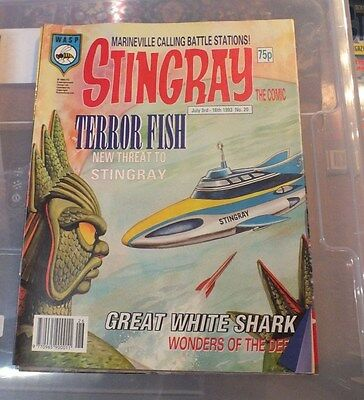 Stingray The Comic No 20 July 3rd -July16th 1993 GERRY ANDERSON - EXC.