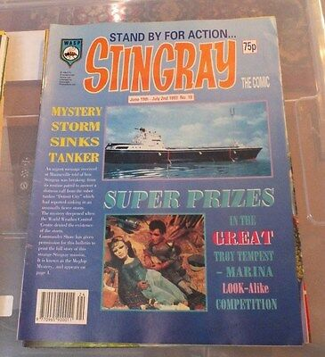 Stingray The Comic No 19 June 19th -July 2nd 1993 GERRY ANDERSON - EXC.